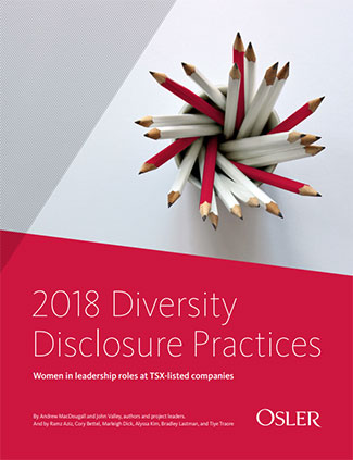 2018 Diversity Disclosure Practices: Women in leadership roles at TSX-listed companies