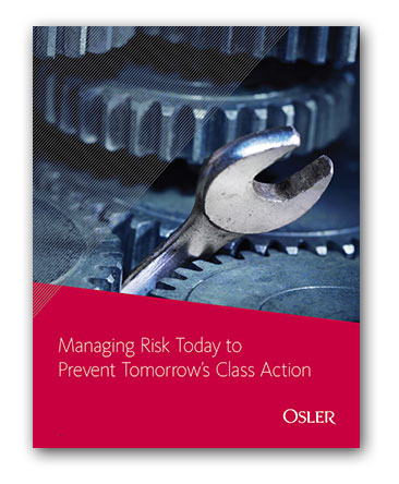 White paper: Managing Risk Today to Prevent Tomorrow's Class Action