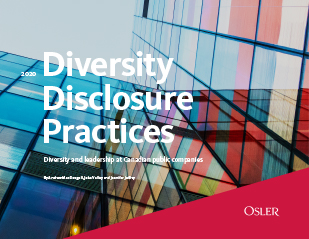 2020 Diversity Disclosure Practices report cover - Diversity and leadership at Canadian Public Companies
