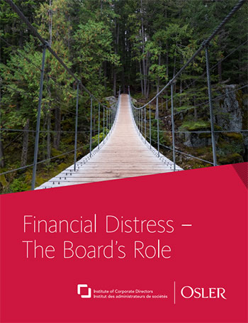 Financial distress – The board's role