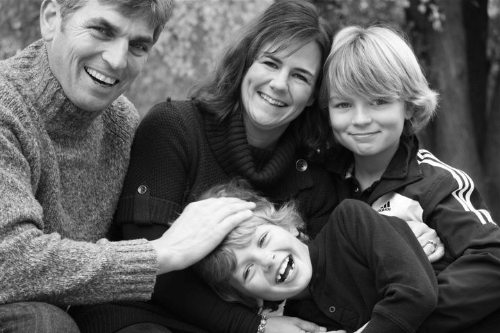 Geoff Taber, Jacquie Taber, and their sons Scott and Andrew