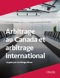 Arbitrage au Canada et arbitrage international