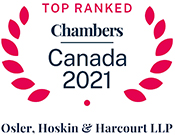 Top Ranked: Chambers Canada 2021 - Osler