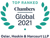Top Ranked: Chambers Global 2021 - Osler