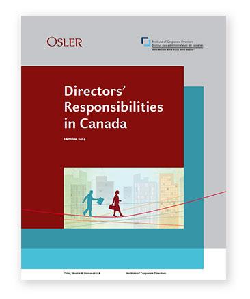 Directors' Responsibilities in Canada guide