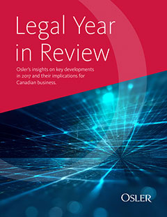 Legal Year in Review 2017 - Visit https://legalyearinreview.ca/