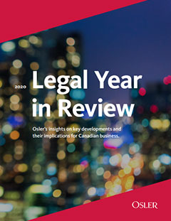 Legal Year in Review 2020
