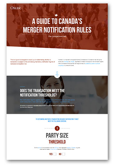 A Guide to Canada's Merger Notification Rules