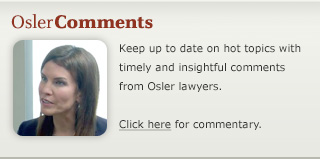 Michelle Lally - Osler Comments
